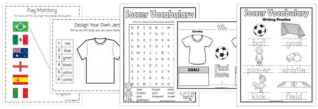 Mommy Maestra: World Soccer Championship Activity Pack for