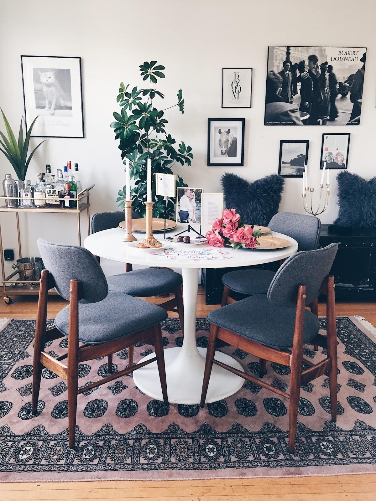 funky boho dining room