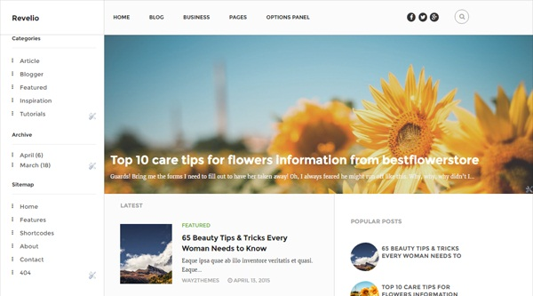 Revelio Way Blogger Template