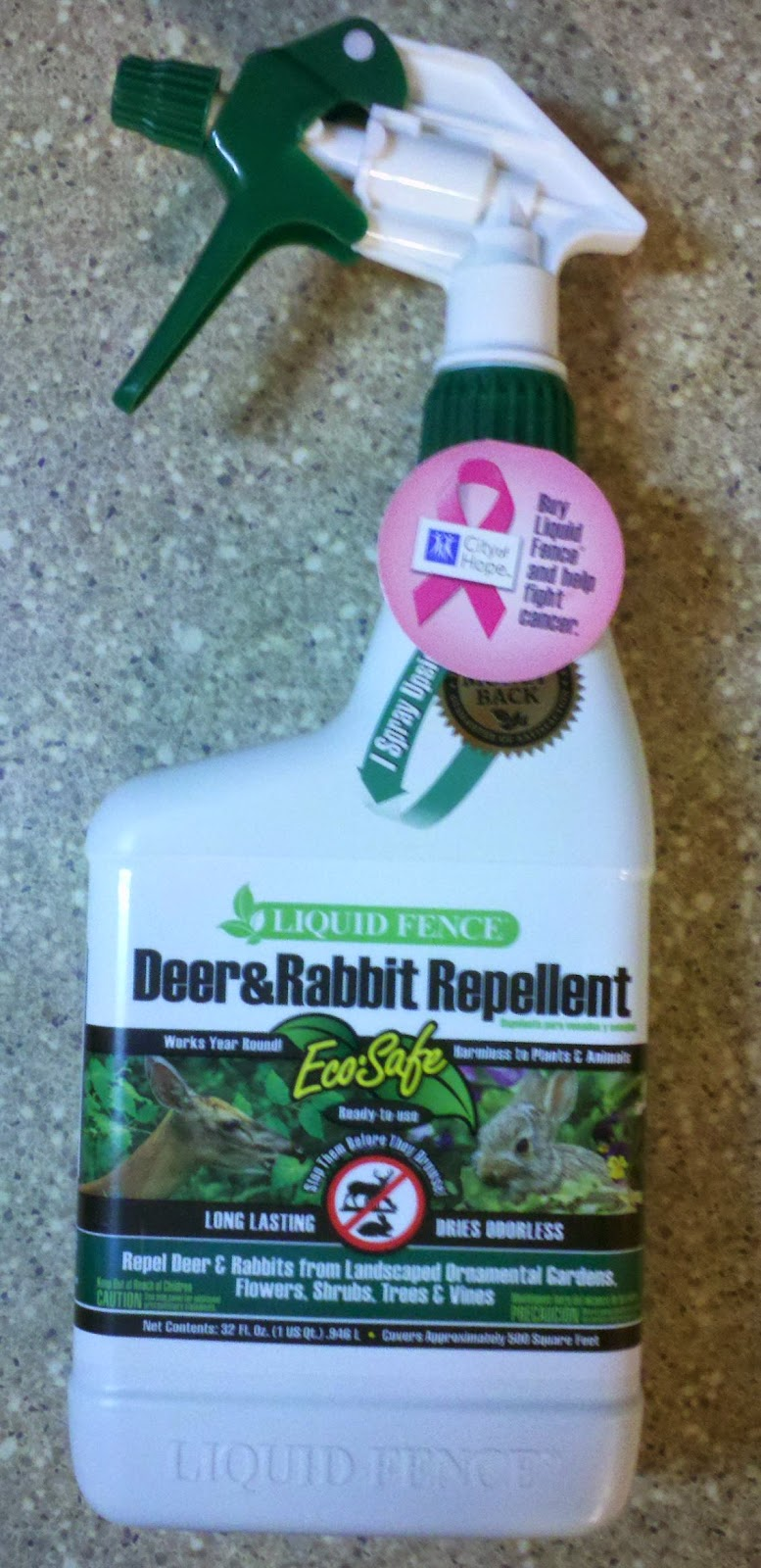 Liquid Fence Deer & rabbit repellent, all natural pest repellent for garden