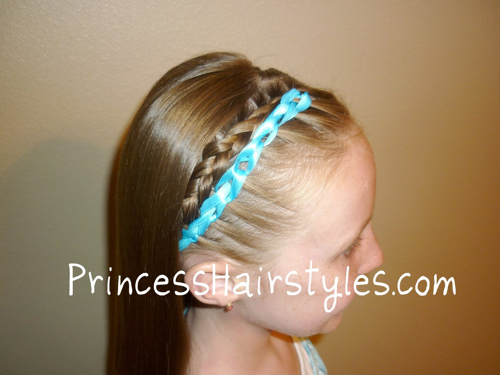 Crocheted Ribbon Braid Hairstyle