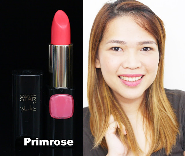 a photo of L'Oreal Color Riche Collection Star Velvet Pinks in Primrose
