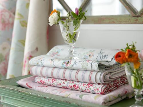 stacks of prettty fabrics