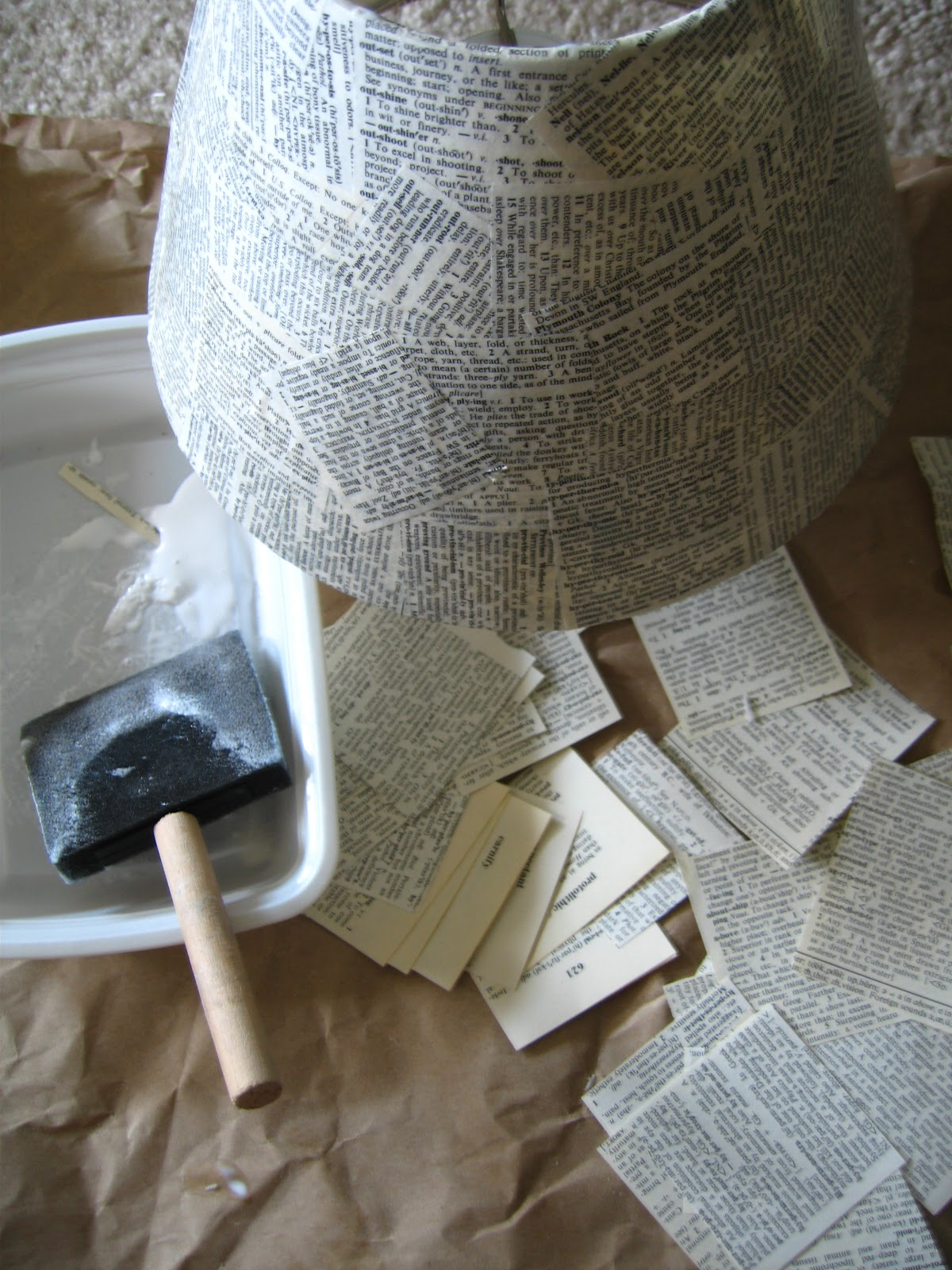 Diy Lampshade Cover Mari Makes Budget Anthropologie Tutorial Well Defined