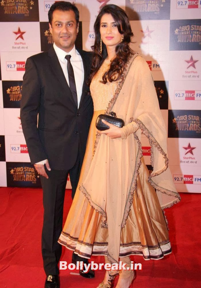 Abhishek Kapoor, Pragya Yadav, Tv babes Sizzle on Big Star Entertainment Awards 2013 Red Carpet