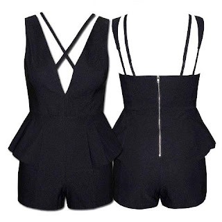 Little Party Dress Store Bring It Black Playsuit