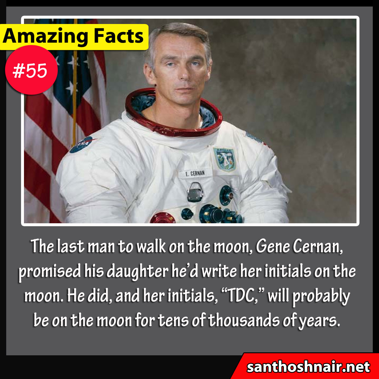 Amazing Facts #55 - Initials on the Moon