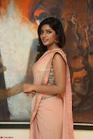 Eesha Rebba in beautiful peach saree at Darshakudu pre release ~  Exclusive Celebrities Galleries 040.JPG