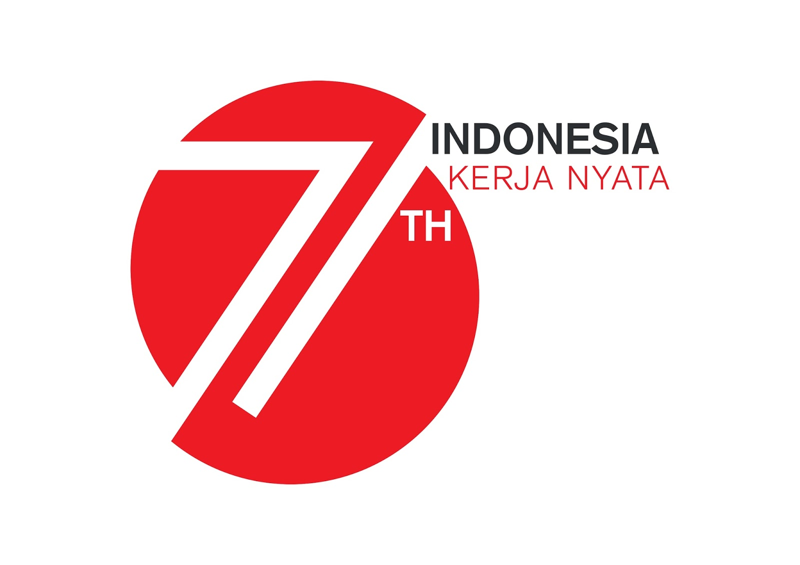 Logo Resmi HUT Ke 71 Kemerdekaan Republik Indonesia Tahun 2016