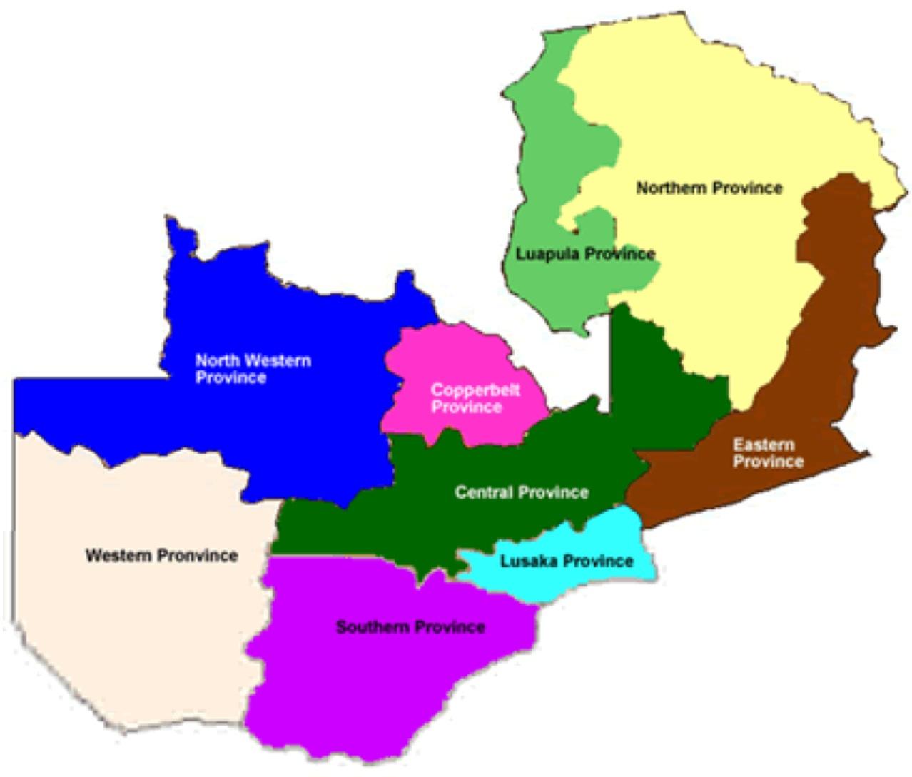 Map Of Zambia Showing Provinces.Zambian Economist Zambia Elections 2011 Constituency Maps