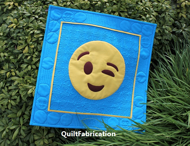 You Got This! Emoji quilt by QuiltFabrication