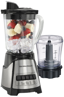 Hamilton Beach Power Elite Multi-Function Blender with Glass Jar and Chopper (58149)