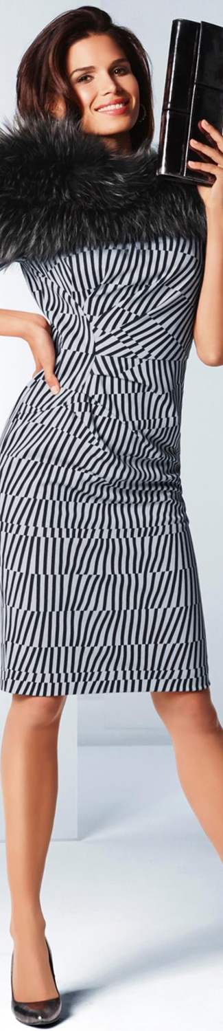 MADELEINE Black/White Print Dress