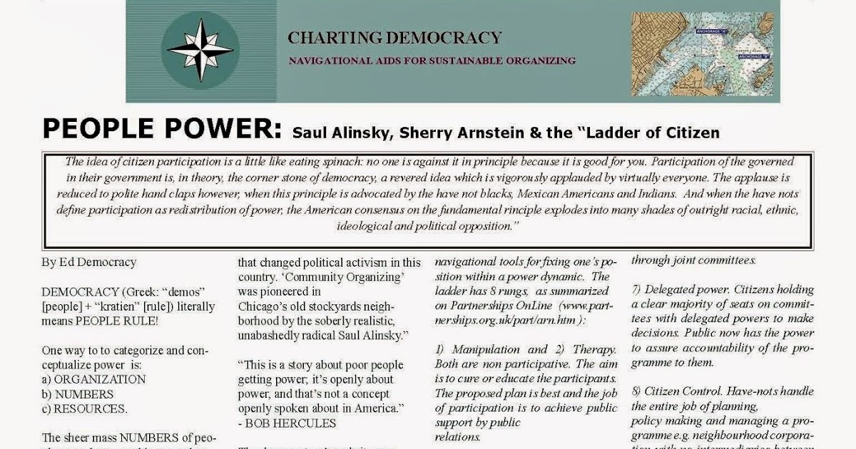 charting democracy sustainable organizing 2006 jul people power saul alinsky sherry. Black Bedroom Furniture Sets. Home Design Ideas