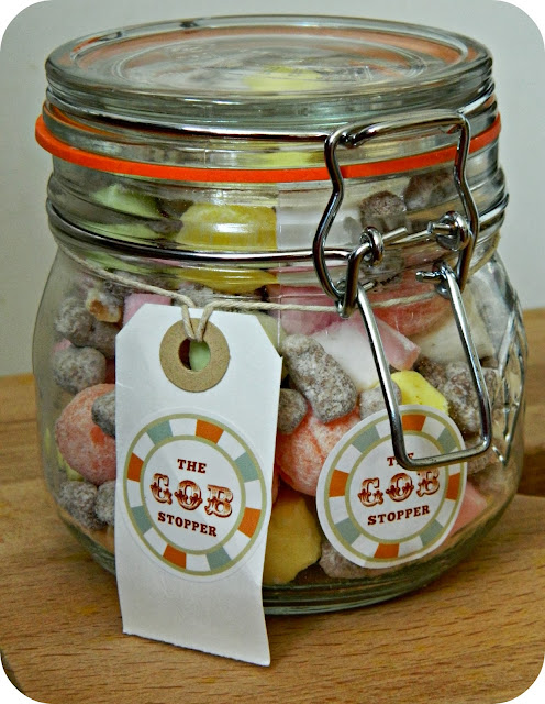 The Gobstopper Click 'n' Mix Sweets Small Kilner Jar Choc Nibbles Orange Lemon Fizzballs Edinburgh Rock