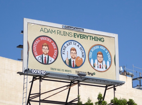 Adam Ruins Everything 2 merit badge billboard