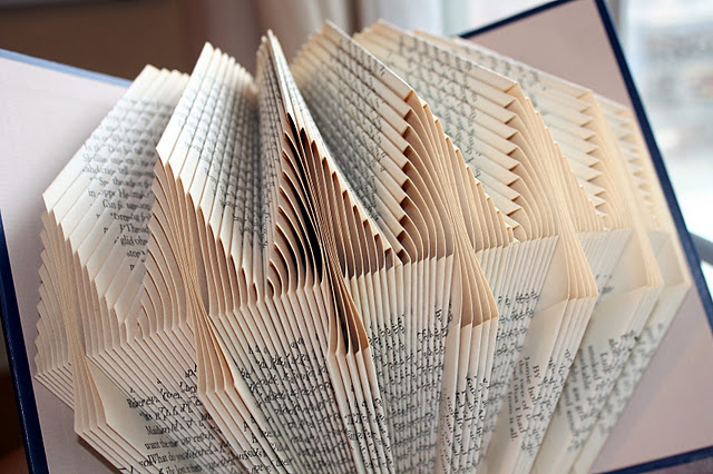 upcycle book folding free