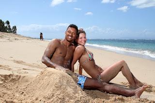 Nani and his wife enjoying vacation