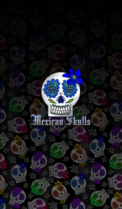 Mexican Skulls -Pop style-
