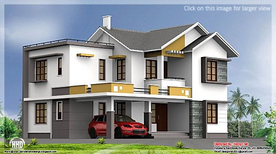 Double floor Indian house plan