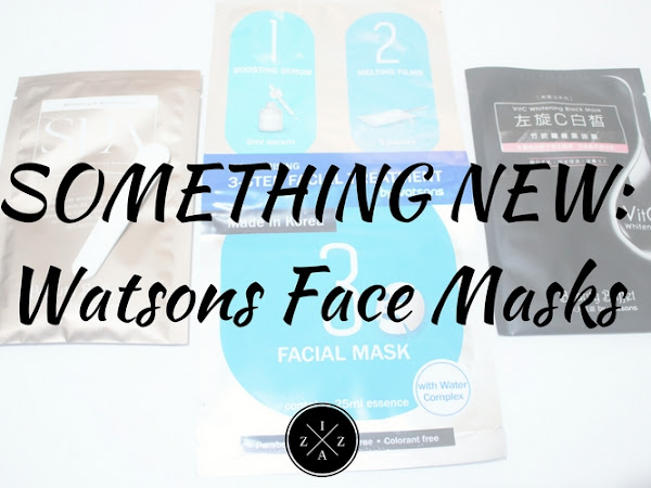 SOMETHING NEW | Face Masks from Watsons