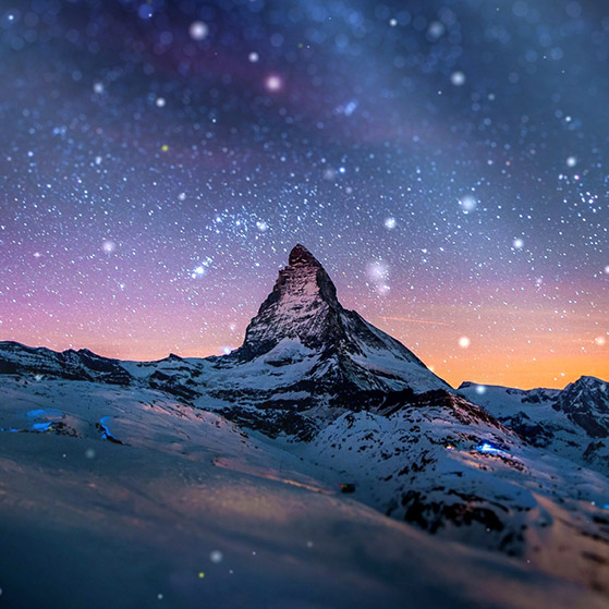 Night Sky Stars Mountain Landscape Scenery Wallpaper Engine