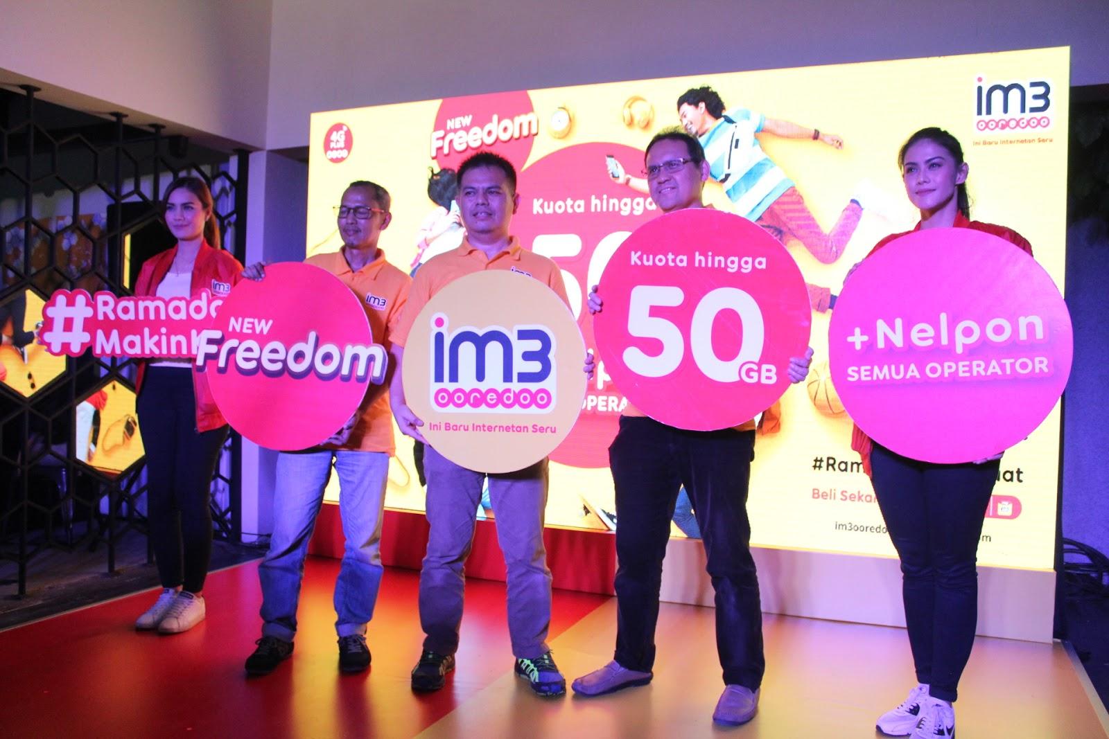 Paket New Freedom IM3 Ooredoo, Kuota Internet Besar dan Gratis Nelpon ke Semua Operator
