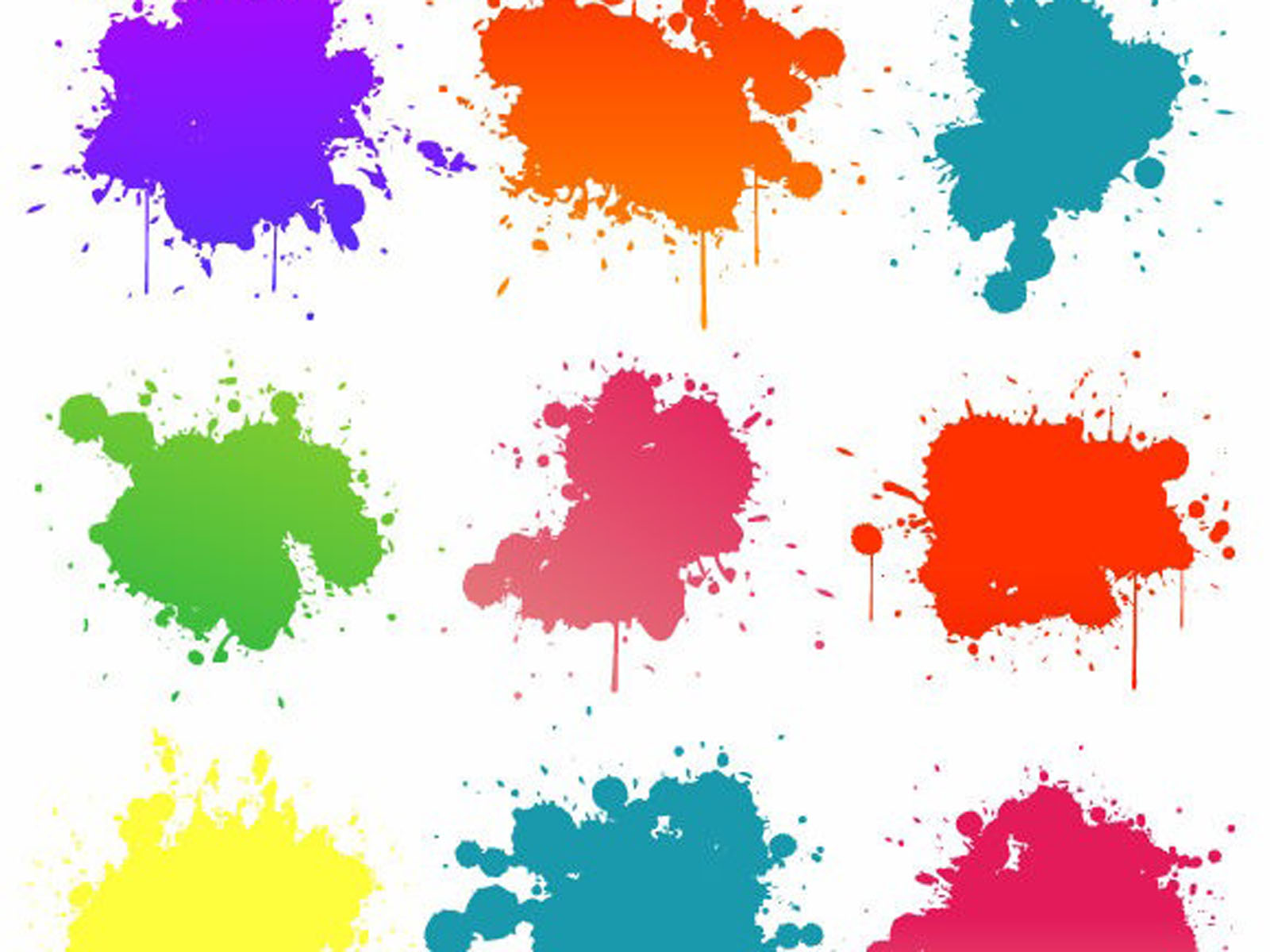 wallpapers Color Blots Wallpapers