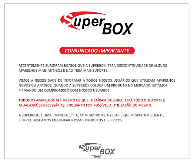 COMUNICADO SUPERBOX