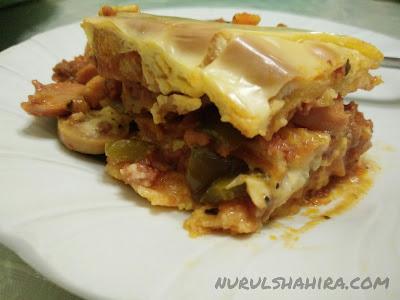 Resepi Homemade Beef Lasagna Guna Roti