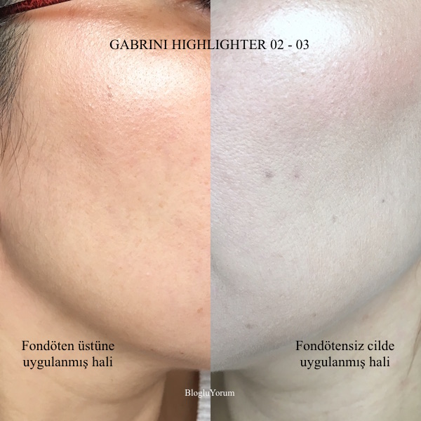 gabrini cosmetics highlighter 02 highlighter 03 incelemesi 9