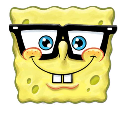 Bob esponja con gafas para imprimir