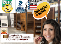 plantation shutters florida manufacturer from Ft. Pierce, FL