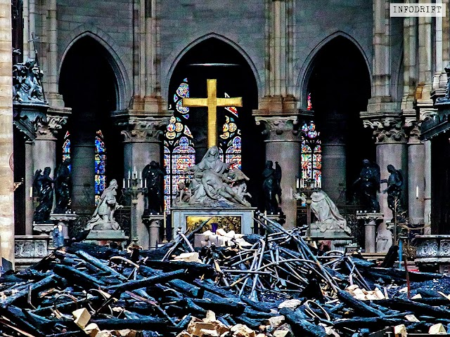 "Paris news: ""Notre Dame de"" cathedral closed temporarily for 5 years for restoration... [know what caused the fire???]"