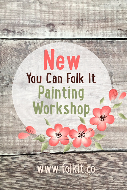 We will be teaching everyone how to create the perfect base for their project and how to paint beautiful Folk Art designs.