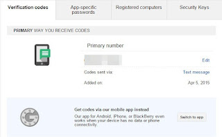 How to enable 2 step verification to Google