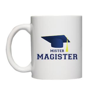 Kubek Mister Magister - prezent na obronę pracy mgr