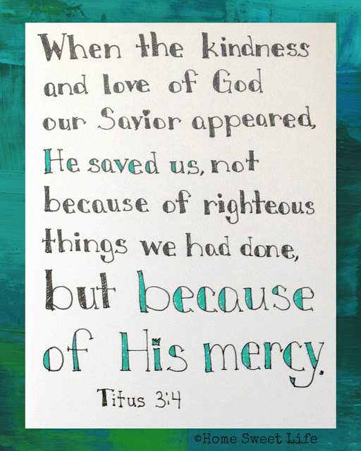 Titus 3:4, Scripture Writing