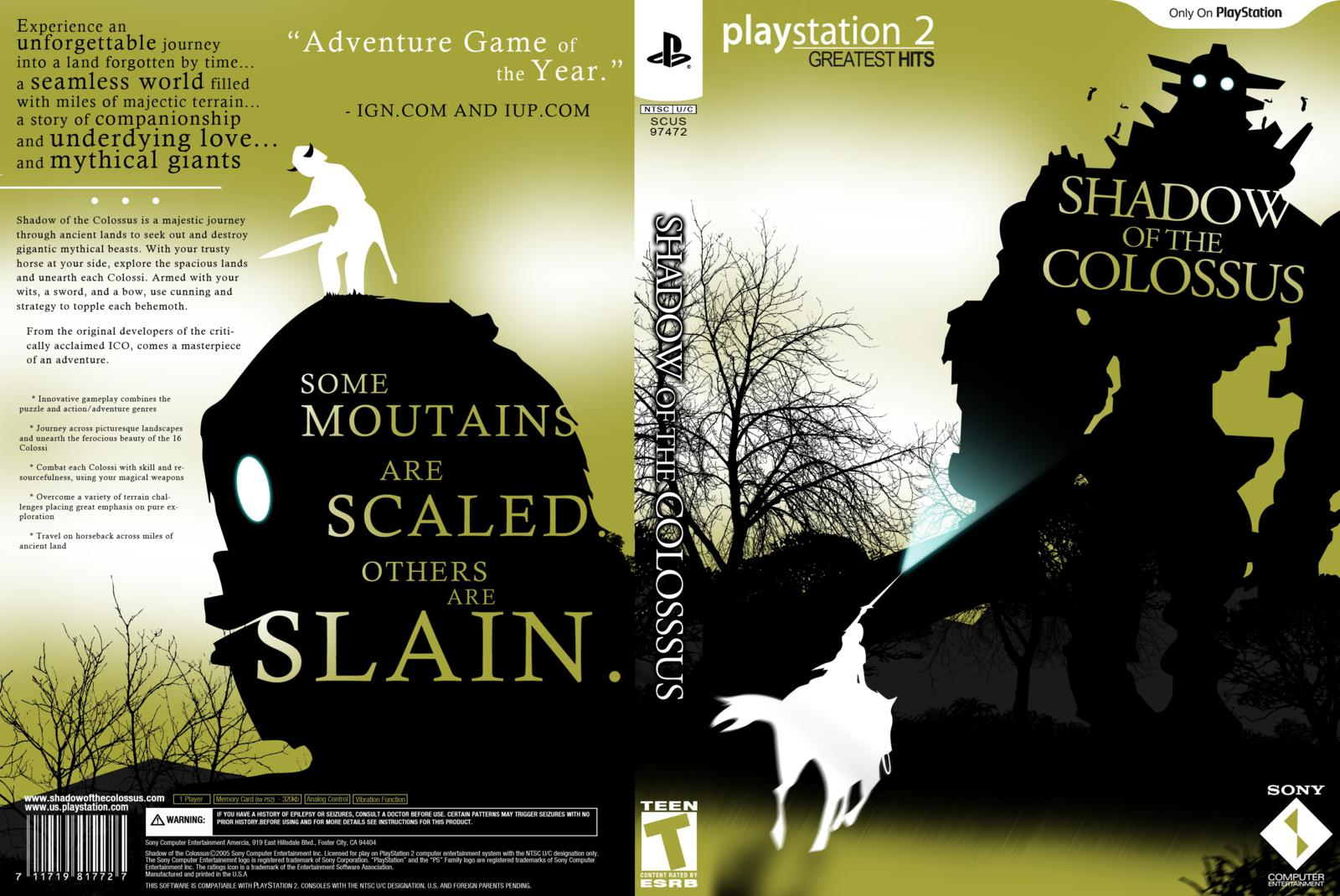 Shadow Of The Colossus - Playstation 2 - Ultra Capas