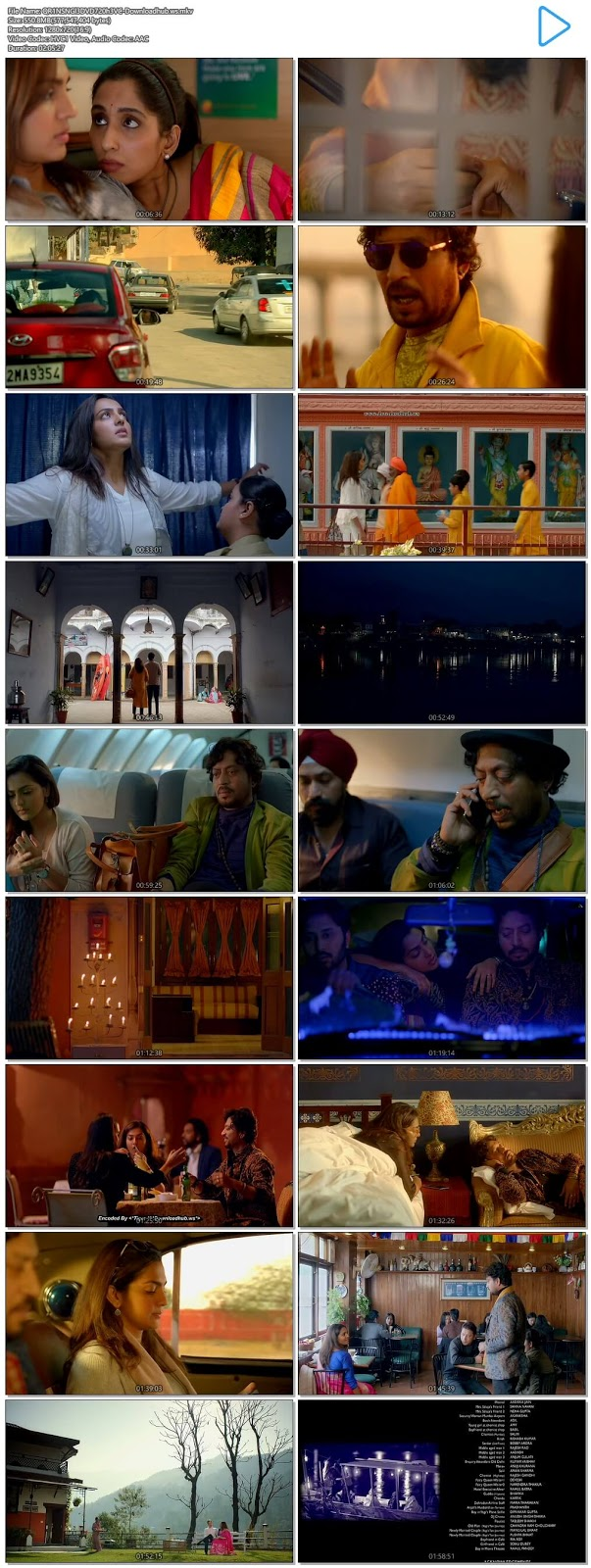 Qarib Qarib Singlle 2017 Hindi 720p HEVC DVDRip ESubs