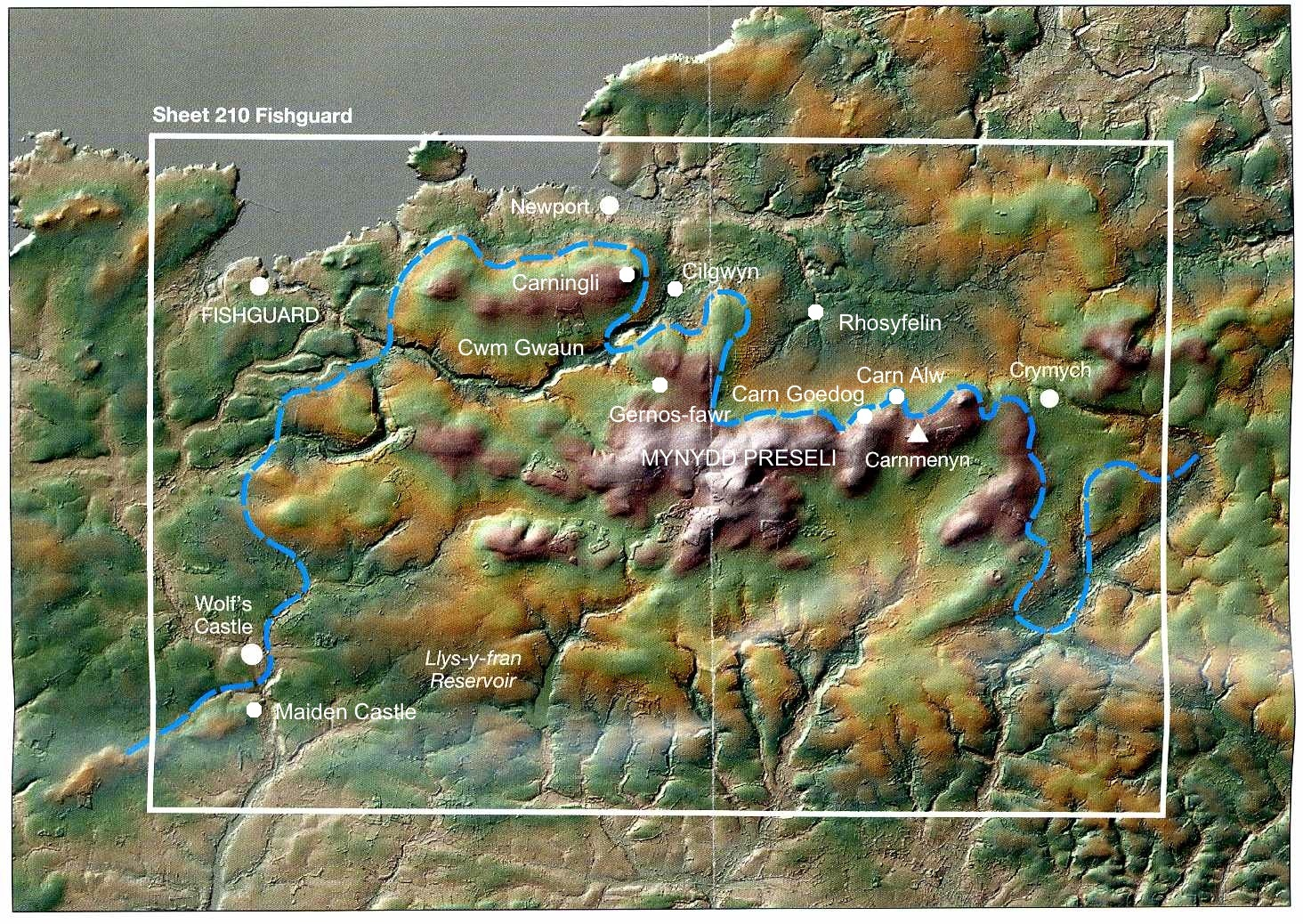 Stonehenge and the Ice Age: Relief Map of the main