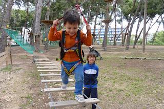 Joel en Bosc Aventura.