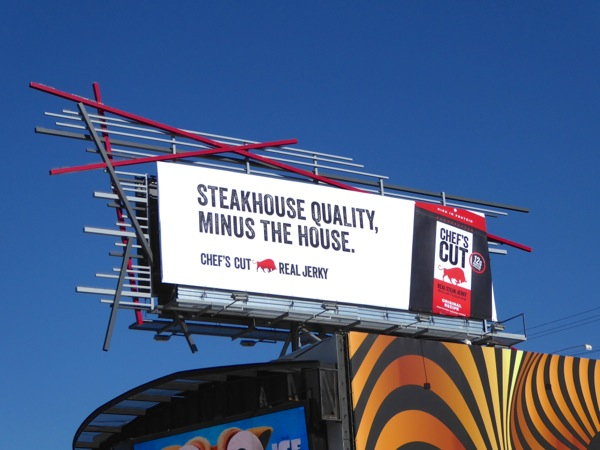 Chef's Cut Steak jerky billboard
