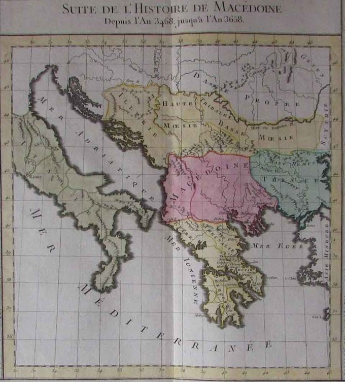Alexanders Reich und Makedonien Landkarte von Claude Buy de Mornas - 1783