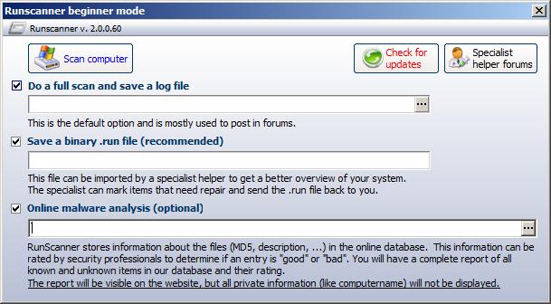 تحميل وتثبيت وشرح برنامج Runscanner للتخلص من البرمجيات الضارة