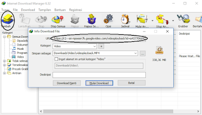 Tambah URL di IDM