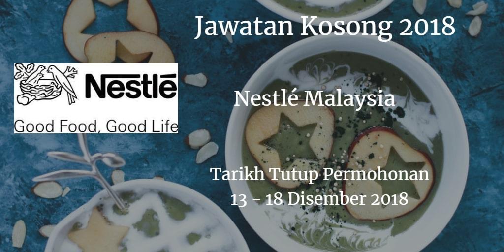 Jawatan Kosong Nestlé Malaysia 13 - 18 Disember 2018