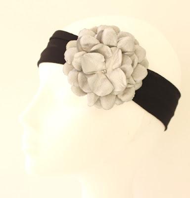 OI 1617 - Coleccion Plata Negro -  Banda Corona Tiara 4