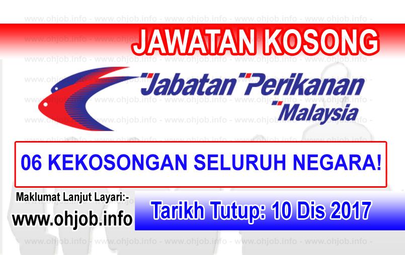 Jawatan Kerja Kosong Jabatan Perikanan Malaysia logo www.ohjob.info disember 2017