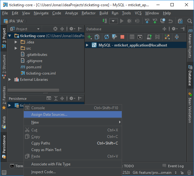 JP Development: Create entity objects from DB schema using IntelliJ IDEA